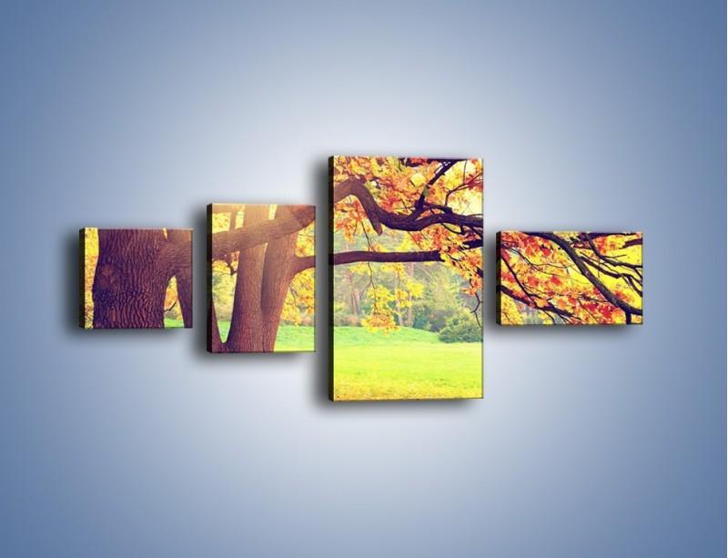 Obraz na płótnie – Jesienią w parku też jest pięknie – czteroczęściowy KN967W5