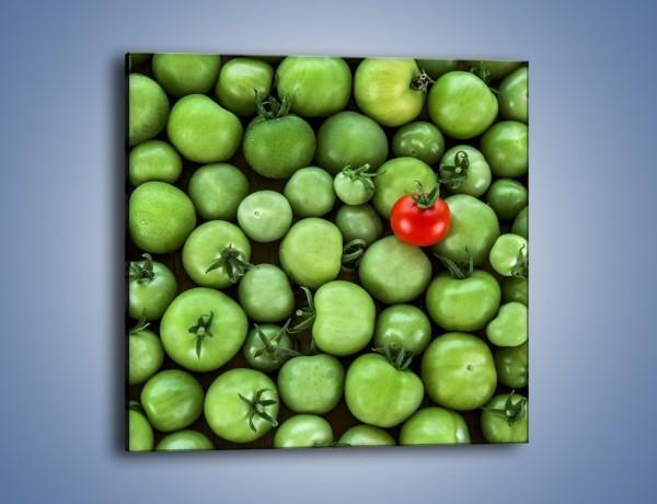 Obraz na płótnie – Prawie dojrzałe pomidory – jednoczęściowy kwadratowy JN517