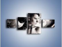 Obraz na płótnie – Czarny kobiecy charakter – czteroczęściowy L095W5