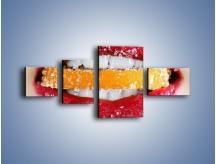 Obraz na płótnie – Cytrusy w słodkich ustach – czteroczęściowy L207W5