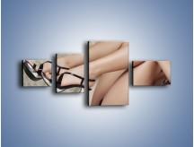 Obraz na płótnie – Kobiecość na wysokich szpilkach – czteroczęściowy L238W5
