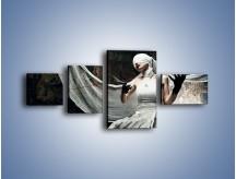 Obraz na płótnie – Dama w białych bandażach – czteroczęściowy L278W5