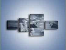 Obraz na płótnie – Dama w sepii – czteroczęściowy L292W5