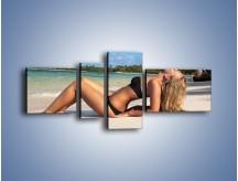 Obraz na płótnie – Czas rajskich plaży – czteroczęściowy L316W5
