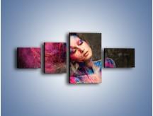 Obraz na płótnie – Kobiece kolory na ciele – czteroczęściowy L340W5