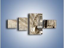 Obraz na płótnie – Głos w srebrnym mikrofonie – czteroczęściowy O026W5