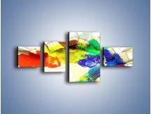 Obraz na płótnie – Kolory pędzlem malowane – czteroczęściowy O046W5