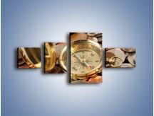 Obraz na płótnie – Kompas zatopiony w monetach – czteroczęściowy O089W5