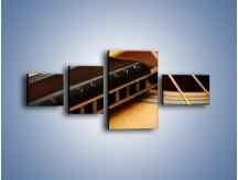 Obraz na płótnie – Instrumenty z drewna – czteroczęściowy O108W5