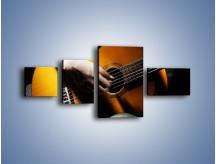 Obraz na płótnie – Chłopiec z gitarą – czteroczęściowy O109W5