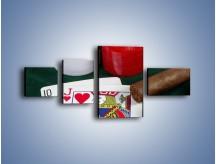 Obraz na płótnie – Męski świat hazardu – czteroczęściowy O121W5