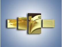 Obraz na płótnie – Liść na ciekawej powieści – czteroczęściowy O163W5
