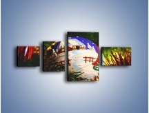 Obraz na płótnie – Bombka ręcznie malowana – czteroczęściowy O168W5