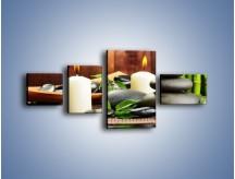 Obraz na płótnie – Masaż przy świecach – czteroczęściowy O176W5