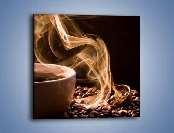 Obraz na płótnie – Kawa owiana tajemnicą – jednoczęściowy kwadratowy JN524