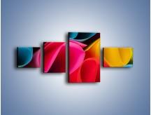 Obraz na płótnie – Kolorowe rulony – czteroczęściowy O217W5