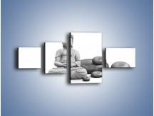 Obraz na płótnie – Budda wśród kamieni – czteroczęściowy O229W5