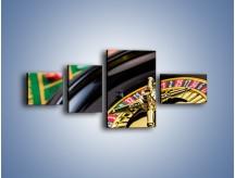 Obraz na płótnie – Czas drogocenny w kasynie – czteroczęściowy O238W5