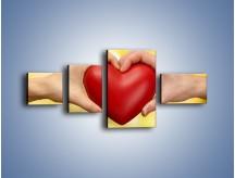 Obraz na płótnie – Miłość dwojga ludzi – czteroczęściowy O240W5