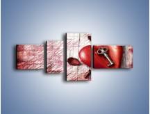 Obraz na płótnie – Klucz do serca – czteroczęściowy O246W5
