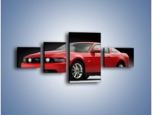Obraz na płótnie – Czerwony Ford Mustang GT – czteroczęściowy TM052W5