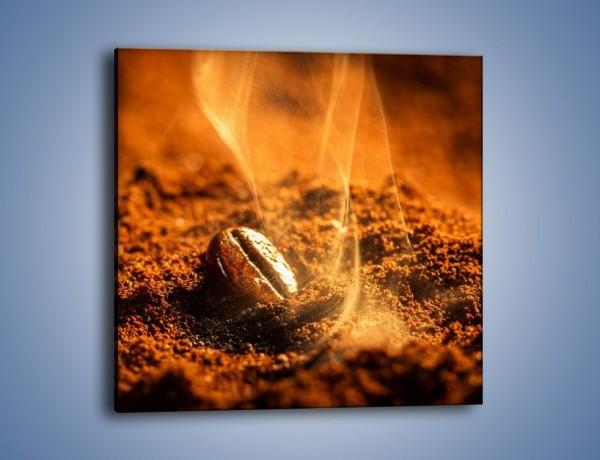 Obraz na płótnie – Znalezione ziarno kawy – jednoczęściowy kwadratowy JN526