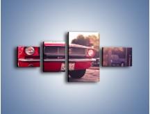 Obraz na płótnie – Czerwony Ford Mustang – czteroczęściowy TM087W5
