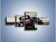 Obraz na płótnie – Czarne Subaru Impreza WRX Sti – czteroczęściowy TM133W5