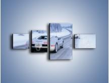 Obraz na płótnie – Bugatti Veyron w śniegu – czteroczęściowy TM134W5