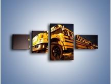 Obraz na płótnie – Amerykański School Bus – czteroczęściowy TM146W5