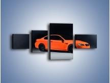 Obraz na płótnie – BMW M3 E92 Coupe Orange – czteroczęściowy TM168W5