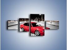 Obraz na płótnie – BMW 5 E34 na moście – czteroczęściowy TM227W5