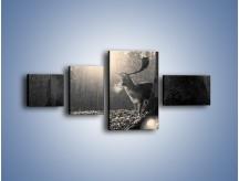 Obraz na płótnie – Jeleń w sepii – czteroczęściowy Z250W5