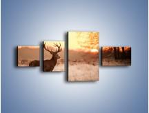 Obraz na płótnie – Jeleń szukający sarny – czteroczęściowy Z306W5