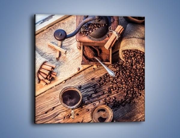 Obraz na płótnie – Kawa z lotu ptaka – jednoczęściowy kwadratowy JN538