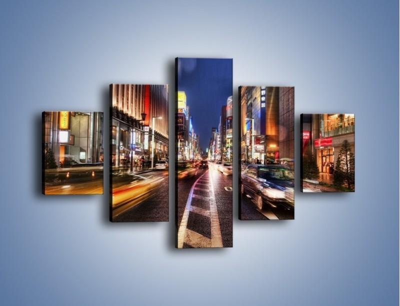 Obraz na płótnie – Tokyo w ruchu – pięcioczęściowy AM015W1