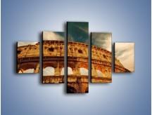 Obraz na płótnie – Koloseum w świetle słońca – pięcioczęściowy AM044W1