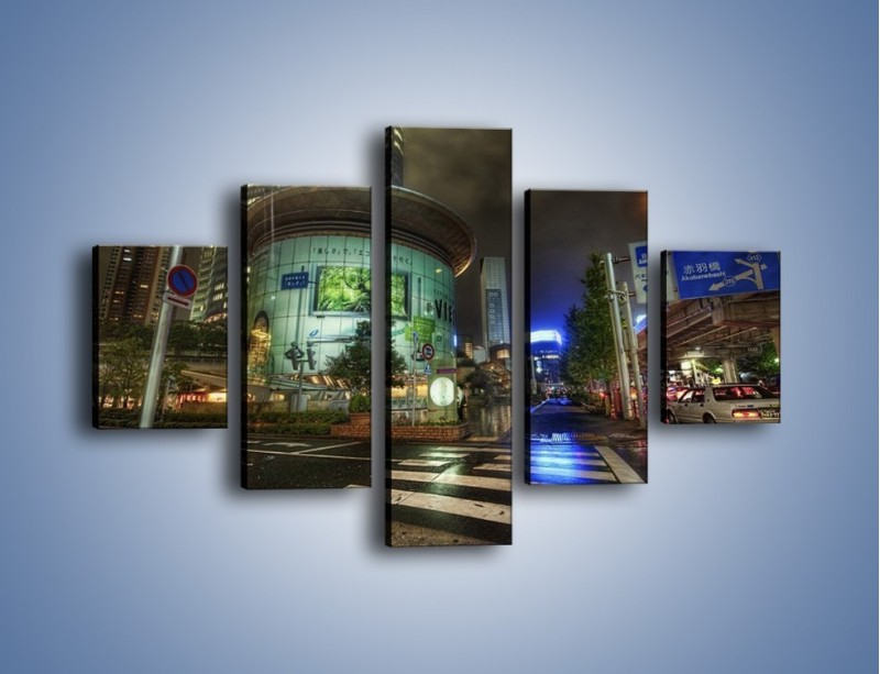 Obraz na płótnie – Spokojne Tokyo nocą – pięcioczęściowy AM056W1