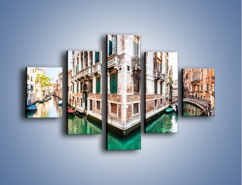 Obraz na płótnie – Skrzyżowanie wodne w Wenecji – pięcioczęściowy AM081W1