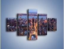 Obraz na płótnie – Budzące się ze snu miasto – pięcioczęściowy AM097W1
