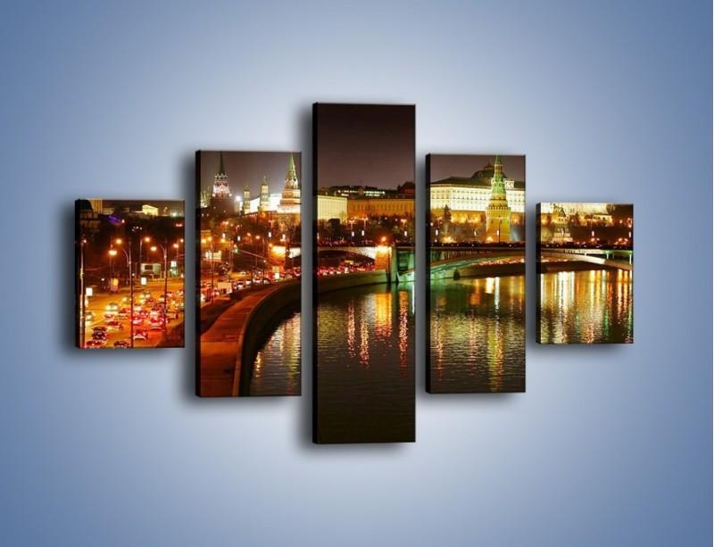 Obraz na płótnie – Moskwa nocą – pięcioczęściowy AM118W1