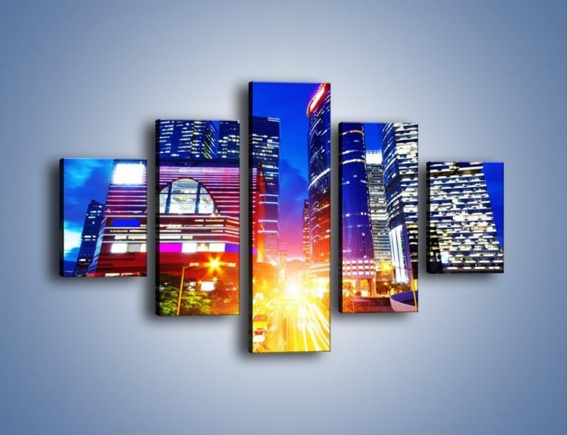 Obraz na płótnie – Miasto w żywych kolorach – pięcioczęściowy AM131W1