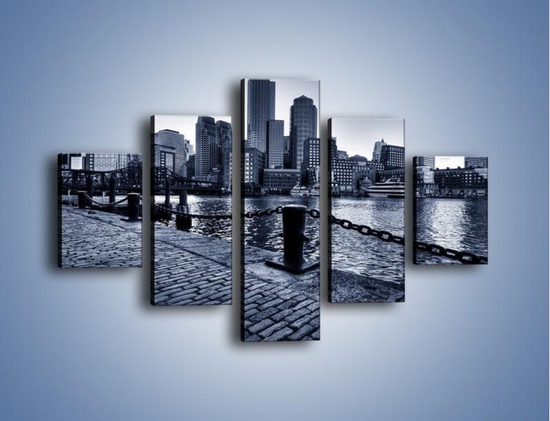 Obraz na płótnie – Wybrukowana wybrzeże miasta – pięcioczęściowy AM132W1