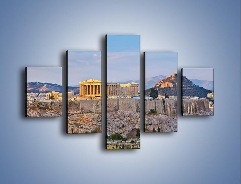 Obraz na płótnie – Ateńskie ruiny – pięcioczęściowy AM162W1