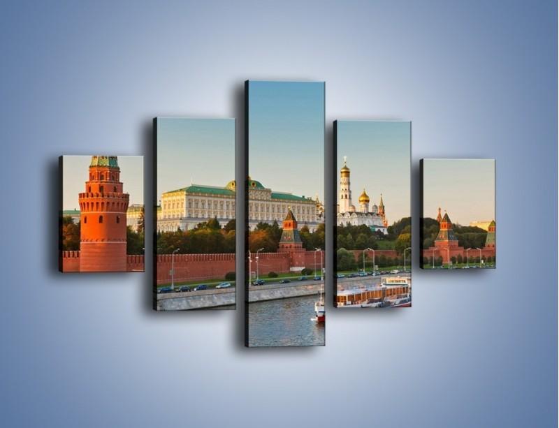 Obraz na płótnie – Kreml w środku lata – pięcioczęściowy AM164W1