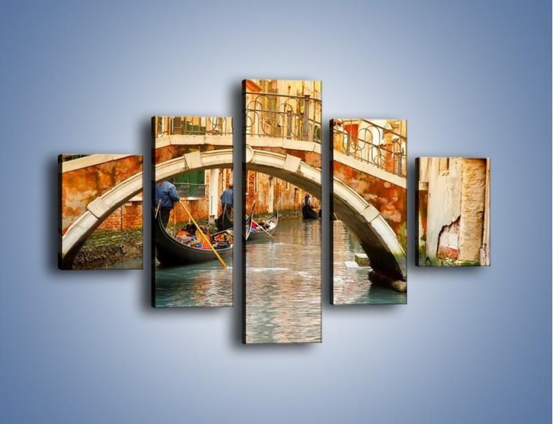 Obraz na płótnie – Weneckie gondole – pięcioczęściowy AM172W1