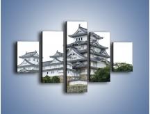Obraz na płótnie – Azjatycka architektura – pięcioczęściowy AM181W1