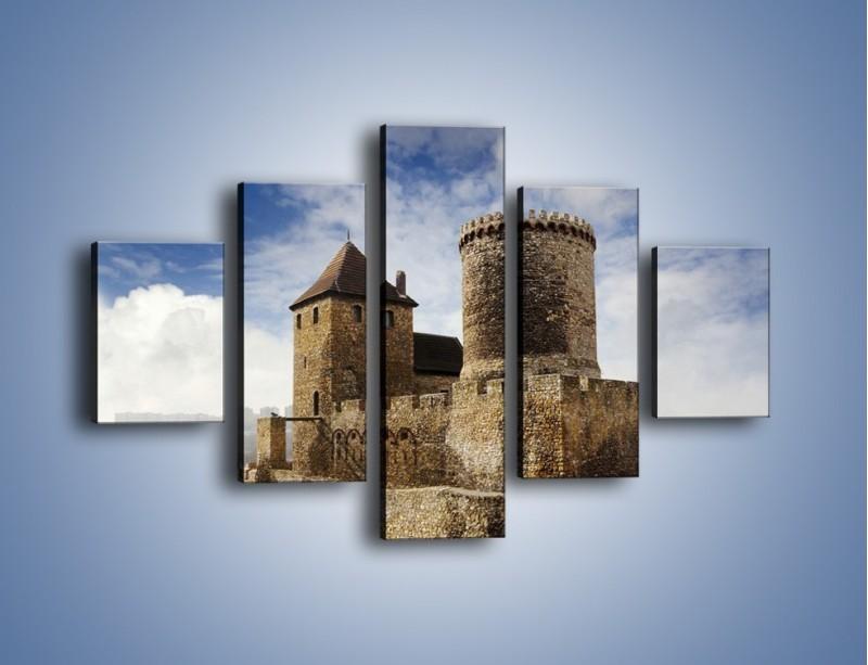 Obraz na płótnie – Średniowieczna fortyfikacja – pięcioczęściowy AM201W1