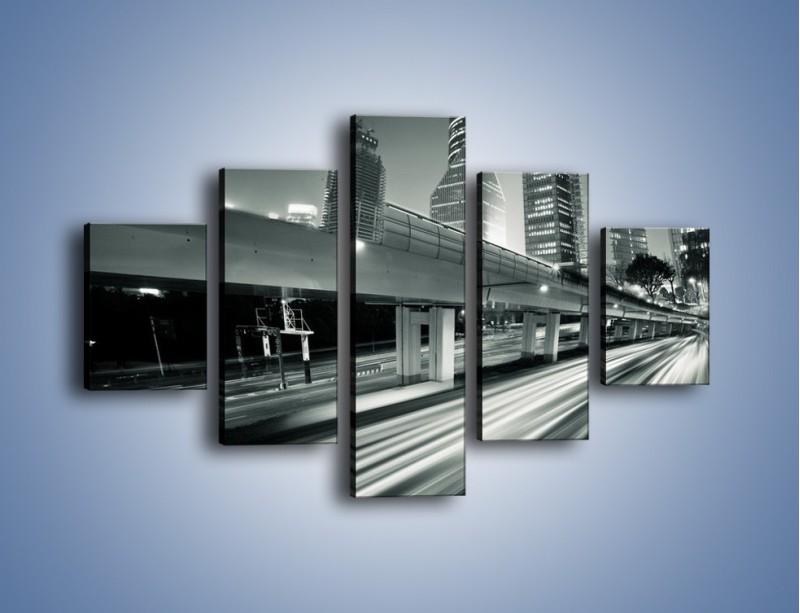 Obraz na płótnie – Miasto w odcieniach szarości – pięcioczęściowy AM205W1