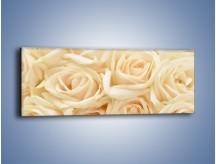 Obraz na płótnie – Bukiet herbacianych róż – jednoczęściowy panoramiczny K710